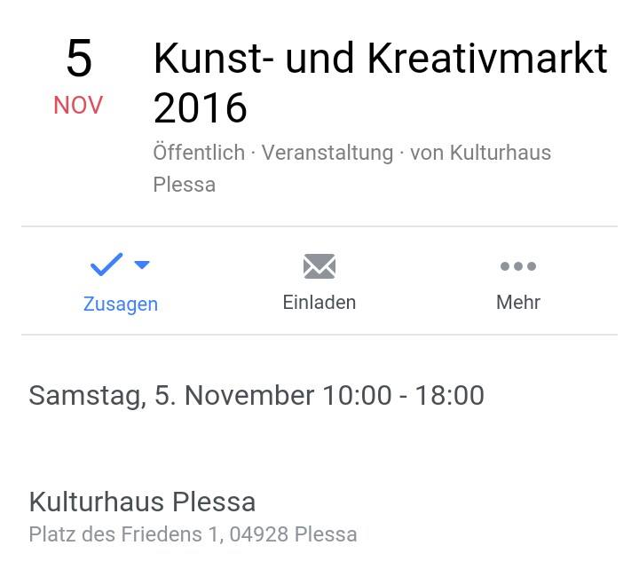 Kreativmarkt in Plessa